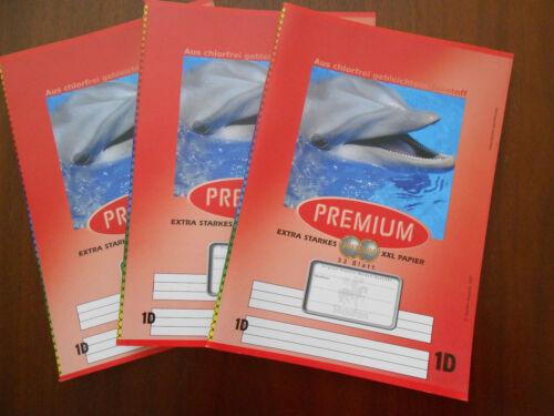 NEU 32 Blatt 3 x Staufen Premium Deutschheft Schulheft DIN A5 Linuatur 1D