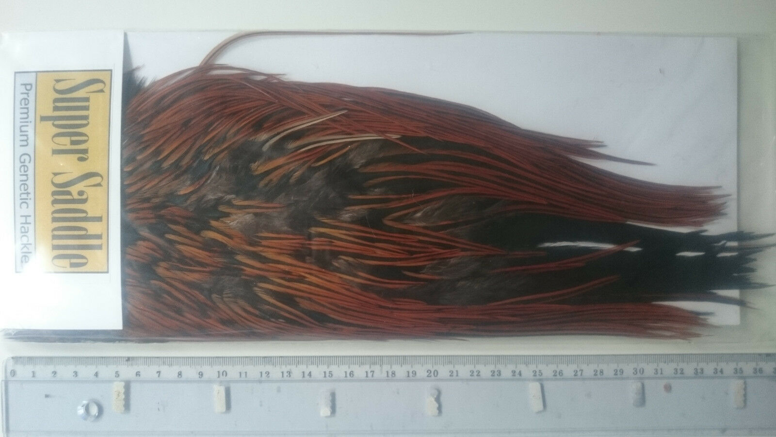SUPER SADDLE saddle selle coq BADGER brown brown  fly tying montage mouche