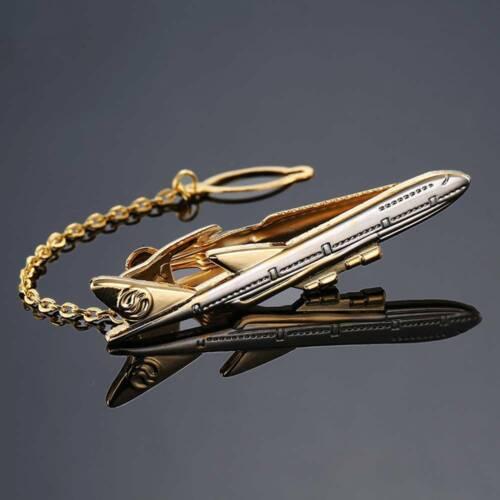 Clásico Hombres Camisa De Aviones De Metal Clip de Corbata Corbata Clip de Corbata Pin avión forma