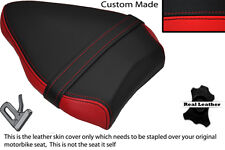 BLACK & RED CUSTOM FITS DUCATI STREETFIGHTER 848 REAR PILLION LEATHER SEAT COVER