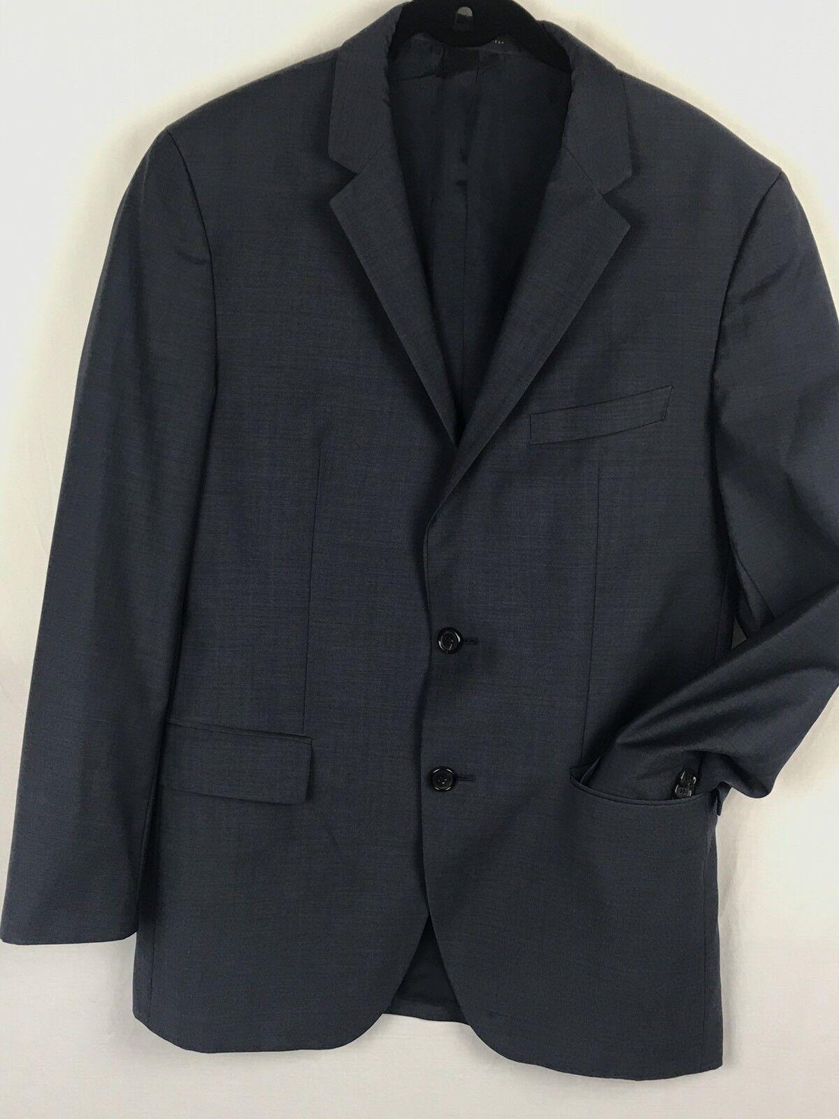 HUGO BOSS  Regular Fit 100% Wool bluee Pindot Blazer Sport Coat Sz 38R