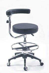 Height Adjustable Swing Backrest Armrest Dental Nurses