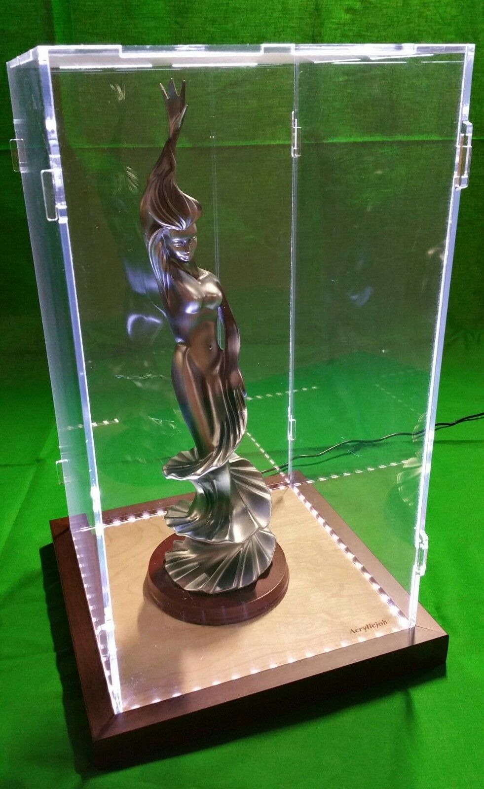 14 x 14 x 28 Display Case for Hot Toy Figures 1/6 Scale, Statue, Doll, LED Light