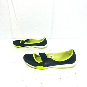 New-Balance-Black-neon-Green-Mary-Jane-Flats-Size-8-5-One-Hundred-One-Women-039-s