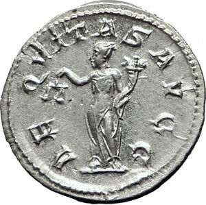PHILIP-I-the-ARAB-246AD-Rome-Authentic-Ancient-Silver-Greek-Coin-AEQUITAS-i65307