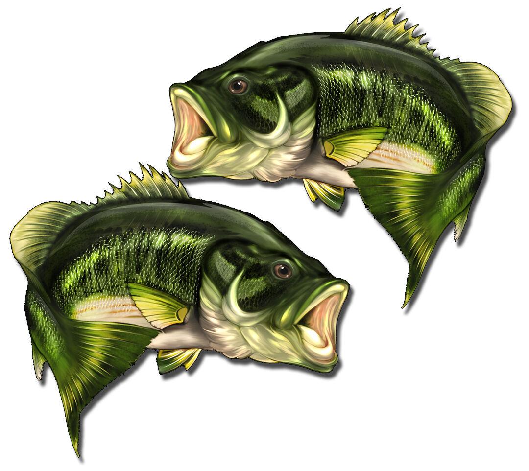 "Small Mouth Bass Profile Decal Bumper Sticker Gifts Men Fishermen Fishing 11/"""