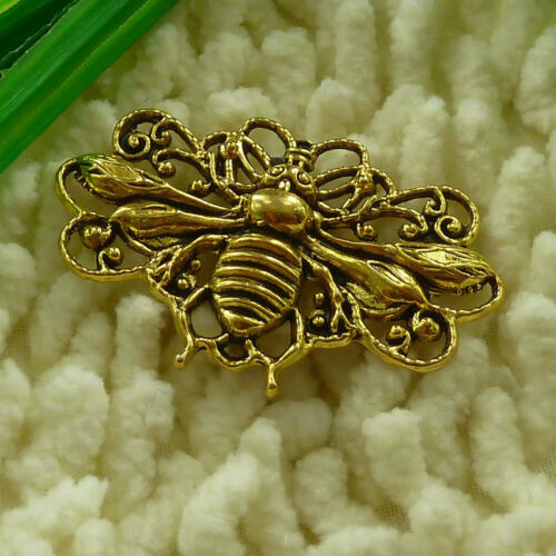 Free Ship 17 pieces gold plated bee charms pendant 45x29mm S2892