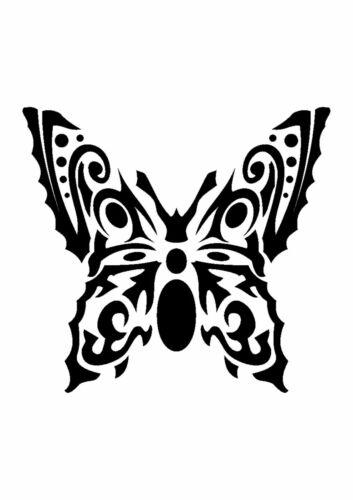 350 micron Mylar not thin stuff #TaT0122 Folk Inspired Butterfly Stencil