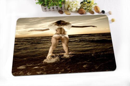 "72//79/""Angel Flying Sea--Bath Waterproof Fabric SHOWER CURTAIN /& MAT/&12HOOKS 357"
