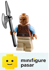 sw487 Lego Star Wars 75020 - Weequay Skiff Guard Minifigure with Weapon - New
