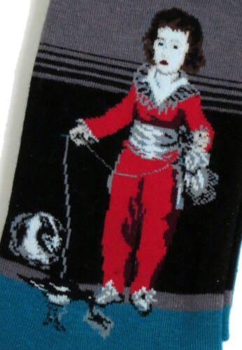 MENS GOYA RED BOY MANUEL CAT BIRD ART SOCKS UK SIZE 6-10 //EUR 39-45 US 8-11