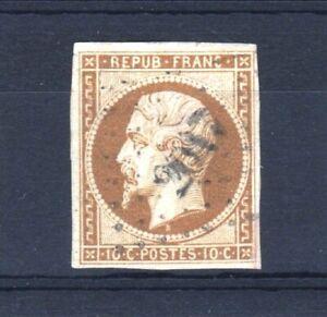 FRANCE-STAMP-TIMBRE-N-9-034-LOUIS-NAPOLEON-10c-BISTRE-1852-034-OBLITERE-A-VOIR-V148