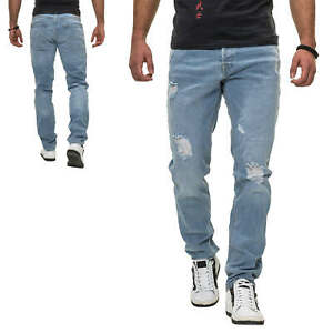 Jack-amp-Jones-Herren-Jeans-Slim-Fit-Stretch-Distressed-Denim-Herrenhose-Jeanshose