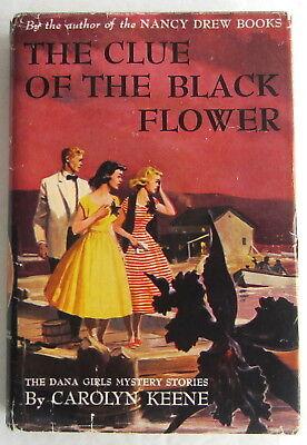 Dana Girls #18 Clue of the Black Flower Nancy Drew Author Carolyn Keene DJ