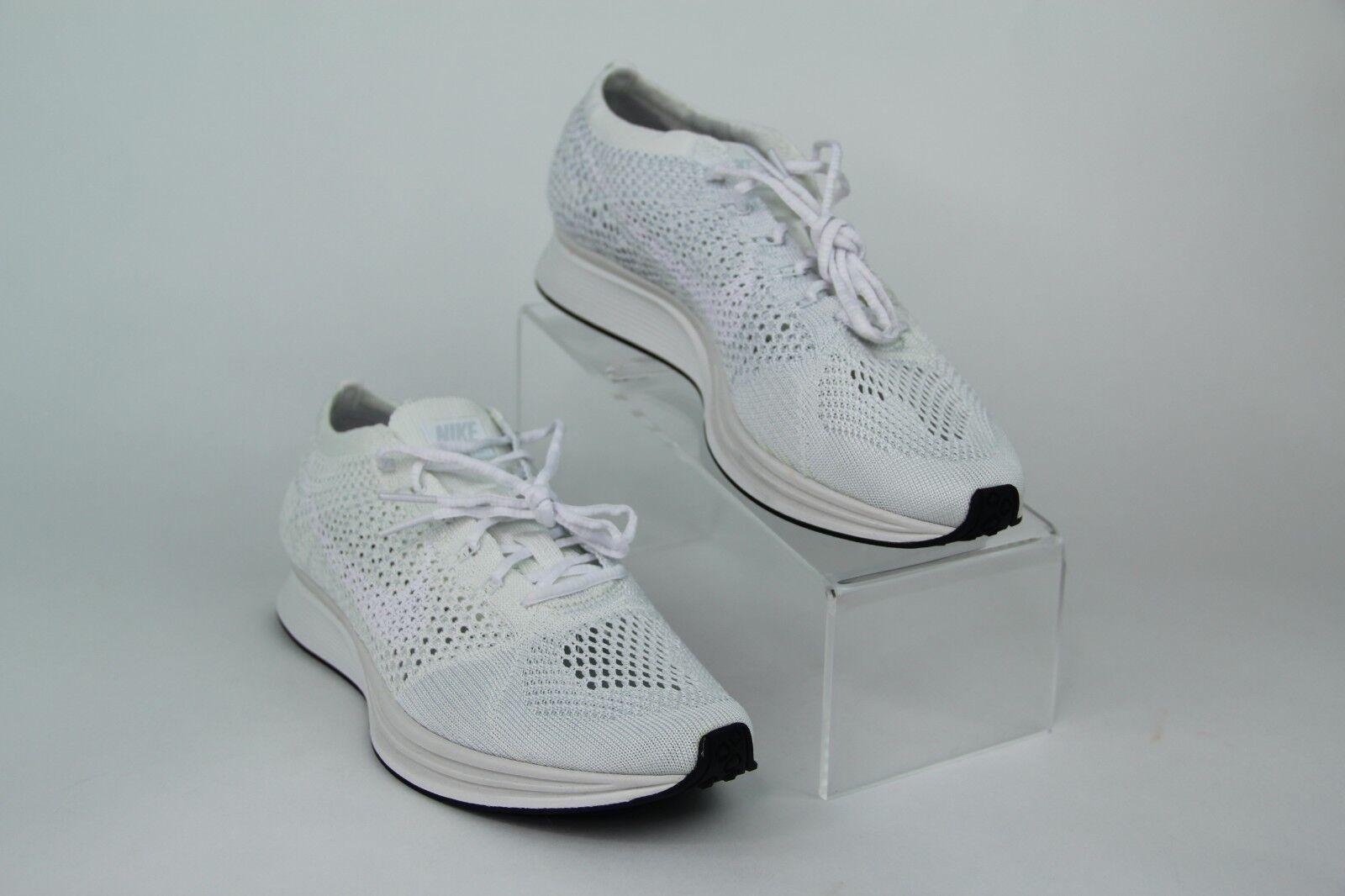 Nike Flyknit Racer Goddess Triple White Sail Sail Sail Pure Platinum 526628-100 SZ b85fbc