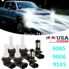 For Chevy Silverado 1500 2500 Hd 2003 2006 Led Headlight Amp Fog Light Bulbs Combo Fits More Than One Vehicle