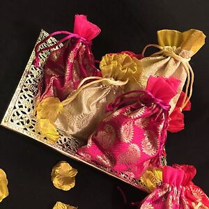 Indian Wedding Favor Bags Uk : 20* Wedding Table Mehndi Decoration Bid Favour Gift Bag-Indian Wedding ...