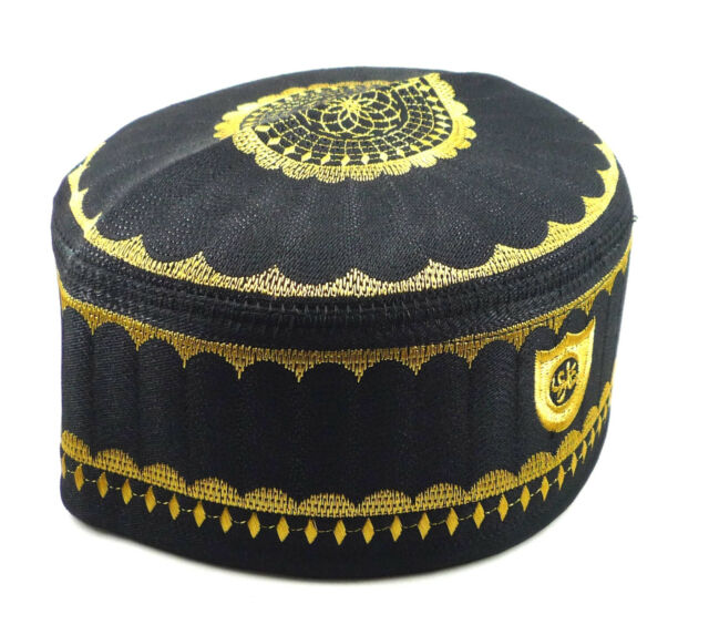 Alwee ALW007 Muslim Kufi Hat Islam Prayer Headware Men Skull Cap Ramadan Eid Gift