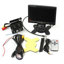 "7"" TFT LCD Auto Monitor Rückansicht Wireless Kit + Funk Rückfahrkamera IR Kamera"