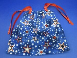 "HANDMADE FITS 18"" AMERICAN GIRL DOLL CLOTHES PATRIOTIC STARS Pillowcase Dress"
