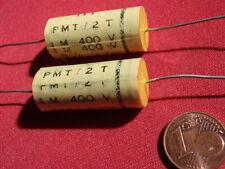 KONDENSATOR f.FREQUENZWEICHE 1µF 400V= FOLIE D15x31mm TONFREQUENZ  2x     23616
