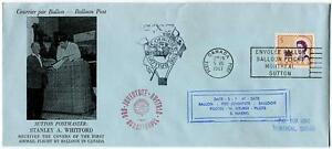 1967 Ballonpost First Post Flight Pro Juventute A. Whitford Oe-dzb Expo Canada