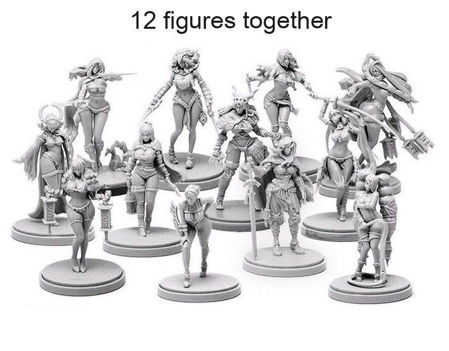 30MM Reino De Resina Muerte 2 Colección 12 figuras Pinup Unpaint unbuild KD001