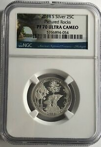 2018-S-NGC-PF70-PROOF-ULTRA-CAMEO-SILVER-PICTURED-ROCKS-QUARTER-25c-UC