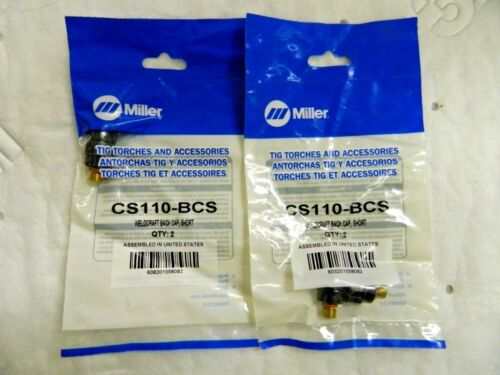 4 CS110-BCS Miller Weldcraft Short TIG Back Caps Qty 2 Packs of 2