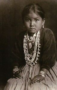 Silversmith S Daughter Navajo Girl Native American Indian Jewelry Etc Postcard Ebay
