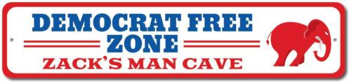 Man Cave Gift ENSA1002598 Democratic Donkey Sign Democrat Free Zone Sign