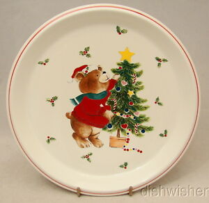 """Mikasa TRIM THE TREE  CC009 Child's Plate or Salad Plate 8 3/8"""""""