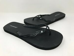 078a13dc6b57d1 New! Women s Joe Boxer 51419 Rona Embellished Flip Flops - Black C25 ...