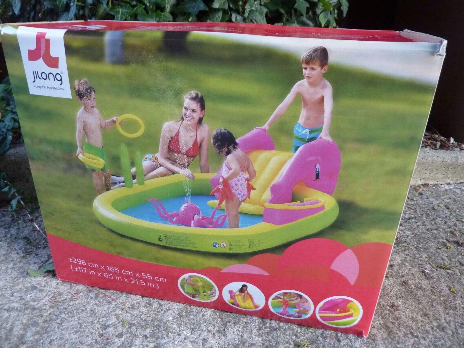 3M Sea Animal Play Pool' = 298cm x 165cm x 55cm by Jilong +Slide=(B)Free UK POST