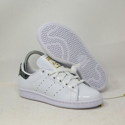 adidas Womens Stan Smith Snakeskin Patent Leather White FV3422 Size 5 Sneaker   eBay