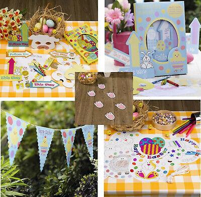 Easter Egg Hunt Kits Bunny pieds Pawprints Bunting Suspendu Décorations de fête