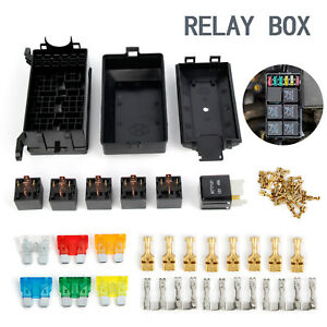 details about 6 way blade fuse box relay holder socket with terminals 80a relay for car truck fender fuse holder relay holder fuse box terminals #7