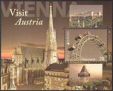 Austria 2012 Europa/Vienna/Ferris Wheel/Fair/Clock Tower/Church 1v m/s (n42240)