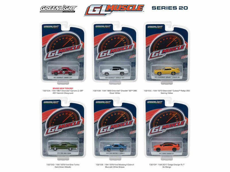 GL MUSCLE SERIES SERIES SERIES 20 SET OF 6 CARS 1 64 DIECAST MODEL CARS BY GREENLIGHT 13210 29ec75