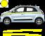 Renault-Twingo-Bandes-Zebres-Stickers-adhesifs-decoration-couleur-au-choix miniature 6