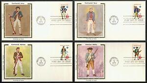 #1565-1568 10c Militaire Services Uniforms- Colorano Premier Jour Any 4 = nEVLcG4T-07133828-765730148