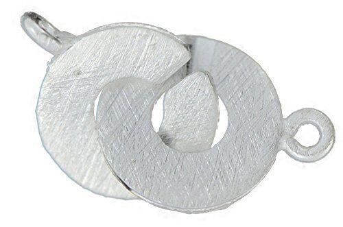 27010-8 mm anillo-ring-cierre 925 plata cepillado