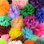 "100pcs 6"" 15cm Paper Tissue Pom Poms Flower Balls Decor for Wedding Party Home"