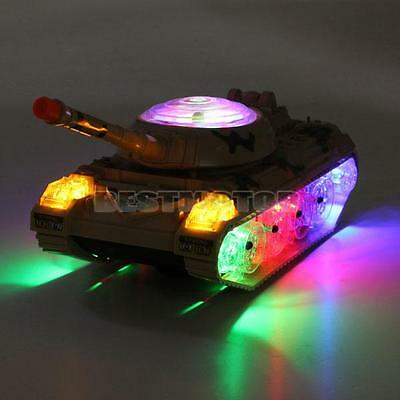 ARMY TANK ELECTRIC TOY CAR FLASHING WHEEL LED LIGHTS COLORFUL SOUNDS KIDS CHILD