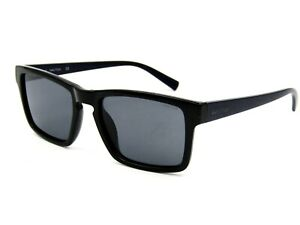Nautica N9209S Polarized Squared Sunglasses 001 Black-Blue / Gray 55-19-145 #15H
