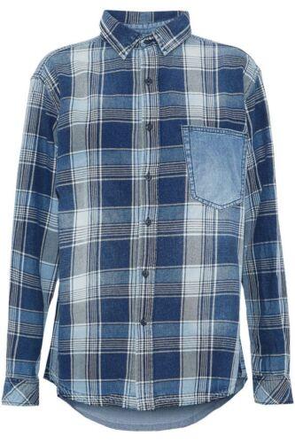 Shirt 1 Net Chambray Cotton Checked twill Size Current Elliott A Bnwt Porter yPf4wqxPA8
