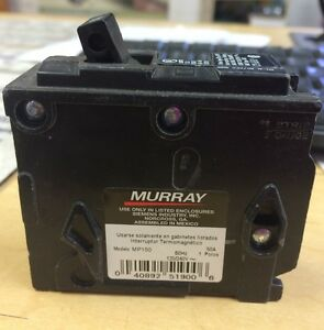 Vintage MURRAY Style MP Single Pole 50 amp Circuit Breaker