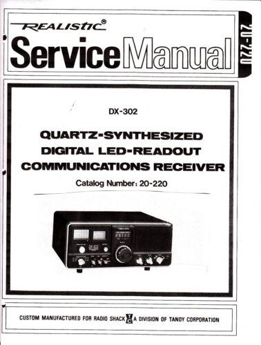 Realistic DX302  DX-302  service manual COPY