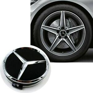 Nabendeckel-Nabenkappen-Felgendeckel-Emblem-fuer-Mercedes-Benz-75mm-4-Stueck