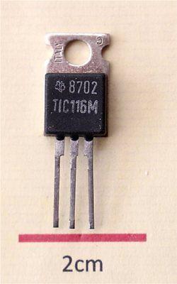4 x TIC116M Thyristors -Rectifiers 8A//800V TO220 Texas Instruments